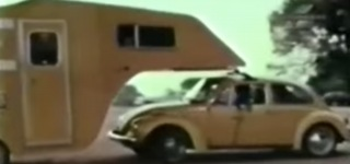 1974 Volkswagen Beetle-Camper Road Test Footage Looks Like a Vintage Movie