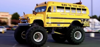 1956 Chevy Monster Kool School Bus!