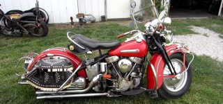 One Owner 1948 Harley Davidson Motorcycle is Fired Up Effectively