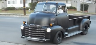 Heartwarming Reaction Kid Gives After Seeing Fantastic 1950 Chevy COE Truck!