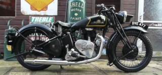 Classic Sunbeam B24 350 Motorcycle is Restored Beautifully