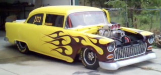 Blown 540ci Powered 1955 Chevrolet Does the Craziest Burnouts Ever!!!