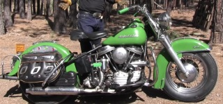 Panhead Engine Powered 1954 Harley Davidson FL Motorcycle is Demonstrated in Detail