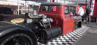 """Demented"": 1951 Chevrolet Viking 40 Farm Truck Caught on Camera at SEMA Show 2017"