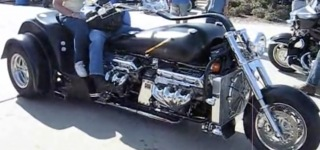 Fantastic Trike Powered by Two Big Block Chevy 502 Crate Engine Has the Best Sound Ever