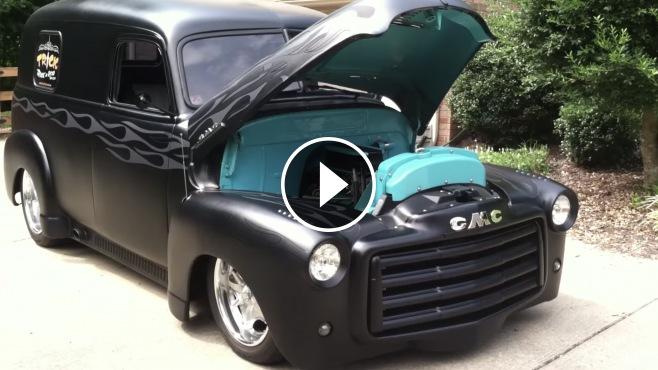 gmc panel truck  matte black paint fascinated   charisma