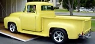 The Queen Has Just Arrived: 1956 Ford F100 Pickup Comes Up at Veterans Show