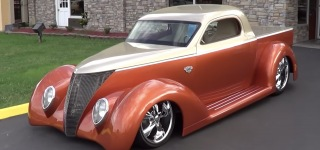 Insanely Cool 1937 Ford Wild Rod Street Rod Caught on Camera While at Shade of the Past