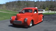 Jerry Stuart's Excellently Treated Willys Truck Has a Roaring Engine