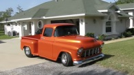 Absolutely Gorgeous 1955 Chevrolet Pro Street Pickup Truck with Eye-Catching Paintjob