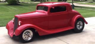 Fully Red 1934 Chevrolet Street Rod is Attractive Enough to Catch All Eyes On!