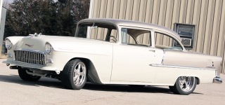 Full Custom Leather Interior 55 Chevy Bel Air by Hix Design of Oklahoma