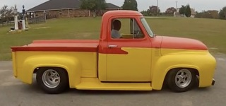 1955 Pro Street Ford F-100 Hot Rod Truck Looks As If It Just Pop Out of a Cartoon