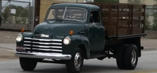 Cool Truck with Sweet 6-Cylinder Sound: 1948 Chevrolet 3800 Series Stake Bed Truck