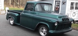 Michael Horner's 1955 Chevrolet Short Bed Hot Rod Pickup Drives Flawlessly