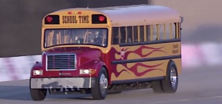 The World's Fastest Jet-Powered Bus