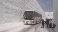 A Unique and Spectacular Route Impresses Travelers With Its Gigantic Snow Wall Corridor