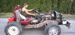 Homemade 350Hp V8 Go Kart Does Crazy Burnouts