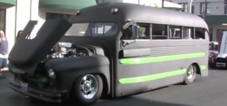 Breathtakingly Charismatic 1955 Chevy Superior Pro Street School Bus