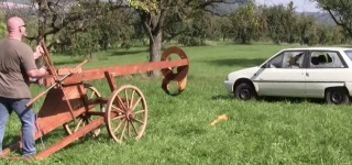 Playing with Incredible Car-Sized Giant Slingshot Cannon
