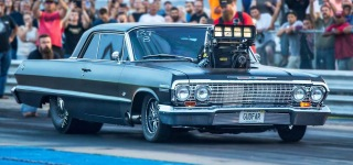 """De Gudfar"" Impala Drops a Bomb on Dragway With Its Insanely Loud Sound"