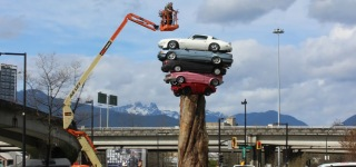 Trans Am Totem - The Art of Stacking Cars in Vancouver