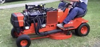 The Amputator: V8 Powered Lawn Mower at Kustom Bitz Factory