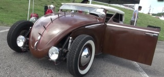 Very Interesting 1958 Volkswagen Beetle is Now a Rat Rod!