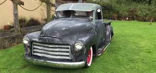 Killer Slammed 1952 GMC V8 Rat Rod!