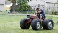 Pure Redneck Style Four Wheel Lawn Mower