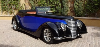 1937 Ford Cabriolet with Hand Carved Wood Interior is a Masterpiece of Advanced Craftsmanship