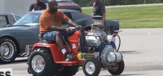 Awesome Machine: Ford 351 Cleveland V8 Powered Cub Cadet Riding Mower