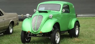 1948 Pro Street Fiat Gasser Looks Fabulous in Eye-Catching Shade of Green