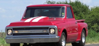 468 Big Block 1969 Pro Street Chevrolet C-10 Pickup Performs Wild Ride
