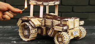 Incredible DIY John Deere Tractor Made Out of Nothing But Matches: Wait for It!