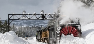 Check Out This Tremendous Rotary Snow Plow Returning to Donner Pass