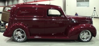 1939 Ford Delivery Custom Restomod Looks Gorgeous in Burgundy Paint!