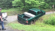 A Brand New Truck of an Unfortunate Driver Got Stuck in the Mud
