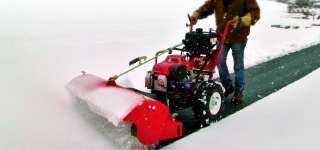 The Turf Teq Power Broom is the Perfect Snow Removal Machine for Every Landscaper
