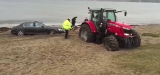 That's Why You Should Never Park an Ultra Expensive Bentley on the Beach!!!