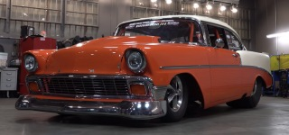"210mph Powered 1956 Chevy ""Creamsicle"" is True Masterpiece"