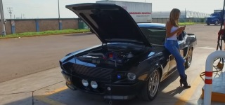 Every Man's Dream: 1968 Ford Mustang Eleanor Driven by a Very Beautiful Lady