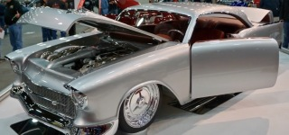 Johnny and Ryan Martin's 1957 Chopped Silver Chevy is the Winner of Don Ridler Memorial Award