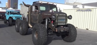 Earth Shaking Beast 1946 Dodge Power Wagon Powered by Diesel 5.9 Diesel and Compound Turbos