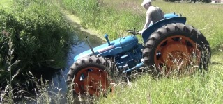 German Guy Driving a Tractor Fails So Badly and Goes into Water!
