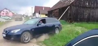 Poor Guy Fails Pathetically While Trying to Demolish the Entire House With a BMW