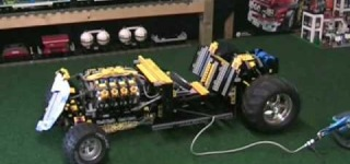 V8 Powered RC Rat Rod is Made of LEGO Parts and Actually Works!