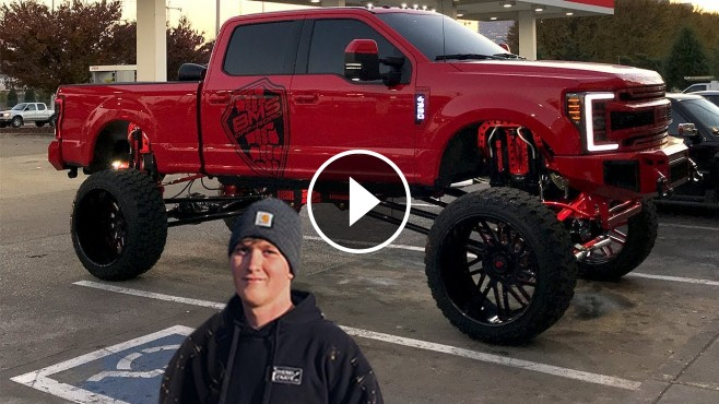 Spending a Day with Nasty 20'' Lifted Ford F250 with ...