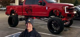 Spending a Day with Nasty 20'' Lifted Ford F250 with Tremendous Tires